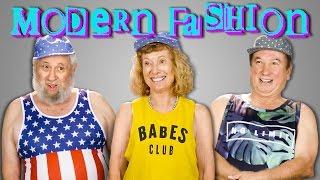 ELDERS TRY ON MODERN CLOTHES   ELDERS REACT