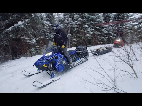 2021 Polaris 800 Titan Adventure 155 Factory Choice in Lincoln, Maine - Video 1