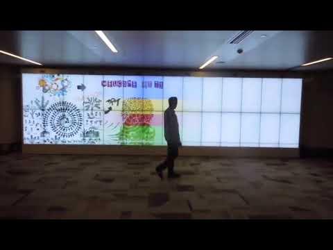 Sensore di movimento 2x14 Parete video LCD Parete video LG montata a muro pannello video originale