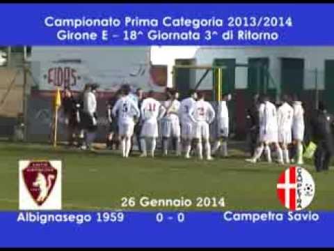 Preview video ALBIGNASEGO CALCIO - CAMPETRA SAVIO 0-0 (26.01.2014)