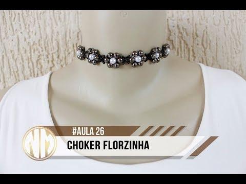 NM Bijoux - #Aula26 - Choker Florzinha