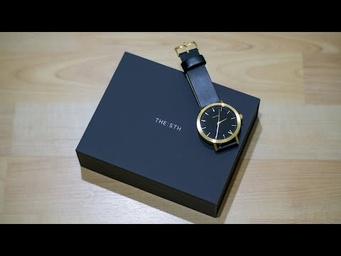 THE : 5TH Watch, BLACK & GOLD : Unboxing (ASMR)
