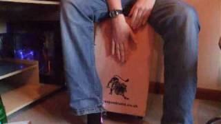 "Me playing a Cajon - (""Pressure Point"" - The Zutons)"