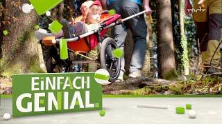 Für Berg und Tal: Der Offroad-Kinderwagen zum Schieben und Ziehen   Einfach genial   MDR