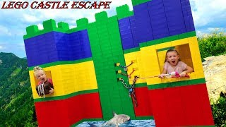 Giant Lego Fort Castle Escape Room!!!