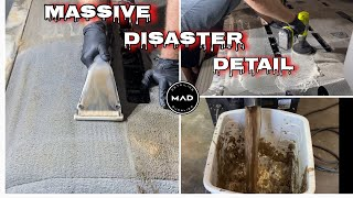 Deep Cleaning A Destroyed Kid Hauling NIGHTMARE!!! | EXTREME Interior Extraction | Complete Detail