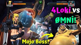 4Loki vs ØMNÎ! Mojo War Boss! New Map Season 19 War #1! - Marvel Contest of Champions