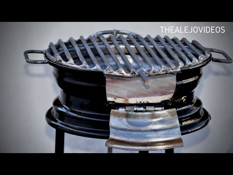 How to make a bbq with a Car Rim. AWESOME IDEA !