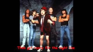 Are You Ready - AC/DC (lyrics)