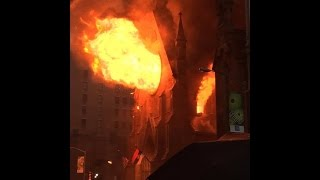 Huge Fire In NYC Serbian Orthdox Cathedral of Saint Sava FDNY
