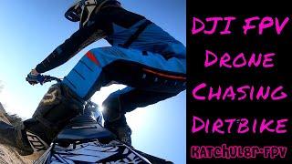 Drone Chasing Suzuki RMZ 450 dirt bike - small dirt track - dji fpv