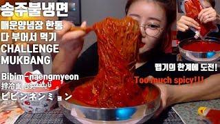 송주불냉면 매운양념장 한통 다 부어먹기 도전! 먹방 Challenge Mukbang Spicy Bibim-naengmyeon 拌冷面 ビビンネンミョンناينغميون