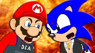 ► Гейская разборка - Марио против Соника ◄ MARIO VS SONIC - Animation Parody (Rus by Mia & Rissy)