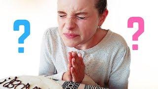 BABY GENDER REVEAL *emotional* 4 KIDS EAT GENDER REVEAL CAKE