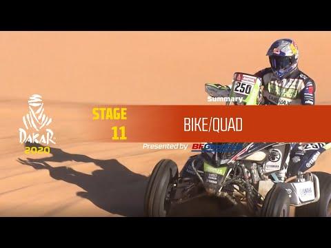 【ダカールラリーハイライト動画】ステージ11 バイク部門のハイライト