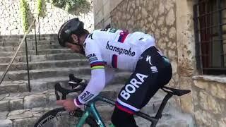 Peter Sagan INSANE Bike Skills Up Stairs!