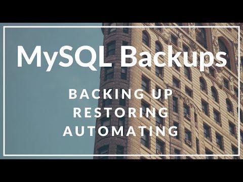 How to Backup and Restore a MySQL/MariaDB Database - YouTube