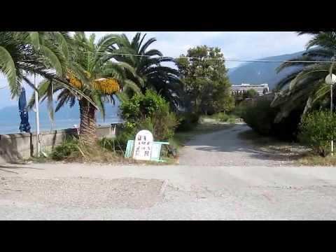 Пляж Абхазии в Гаграх, вид с пансионата Энергетик сентябрь