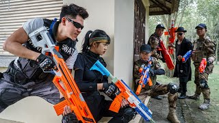 LTT Nerf War : Patrol Police SEAL X Warriors Nerf Guns Fight Criminal Group Dr.Lee Crazy