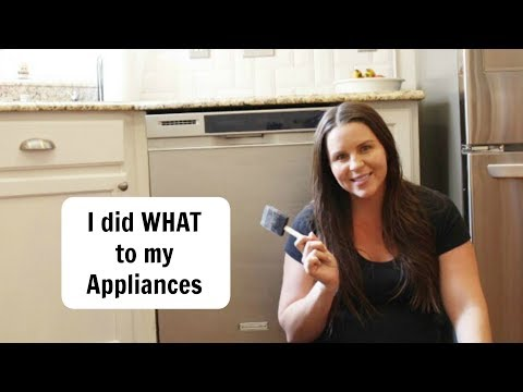 How to Paint Appliances// Liquid Stainless Steel/ Paint Appliances with Stainless Steel Paint