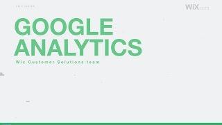 WiX website - Google Analytics
