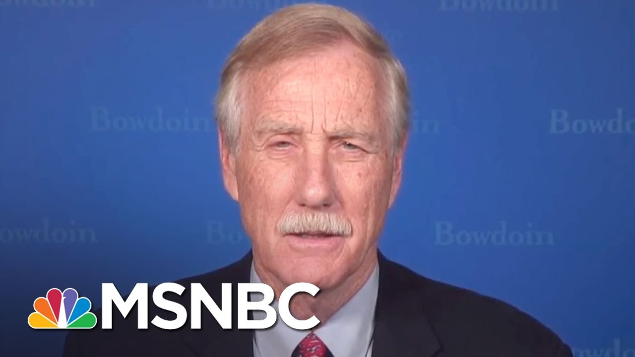 """Sen. Angus King: """"It Would Be A Huge Mistake"""" To Fire Robert Mueller 