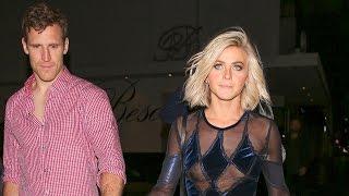 Party On! Julianne Hough Gets Help Walking From BF Brooks Laich, Suffers Wardrobe Malfunction