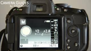 How to set Auto Focus AF point selection on a Nikon D5100 , D5200, D5300