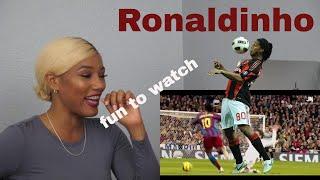 Clueless new American football fan reacts to Ronaldinho highlights