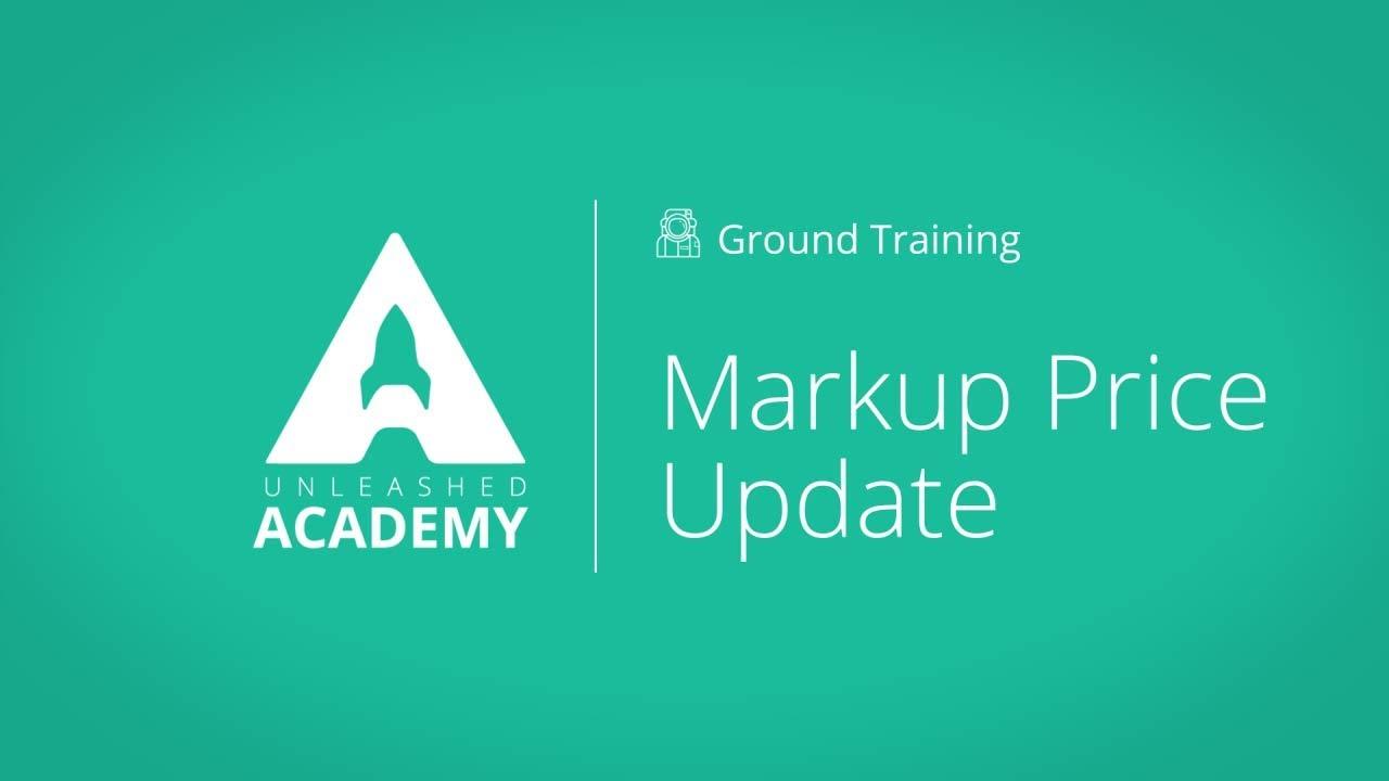 Markup Price Update YouTube thumbnail image