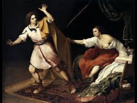 Well-built and handsome Joseph ran away from Potiphar's wife!