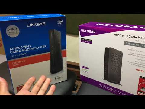 LINKSYS AC1900 vs NETGEAR N600 | wifi modem router comparison xfinity internet speed range wi-fi usa