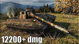 E 50 Ausf. M статист тащит бой 12200+ dmg 🌟🌟🌟 World of Tanks лучший бой на Е50М