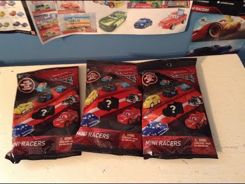 Opening Up 3 Disney Cars Mini Racers Blind Bags