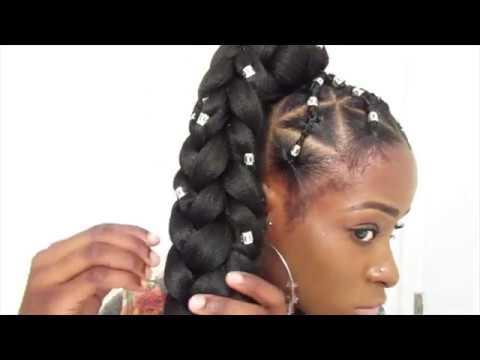 grown ish yara shahidi jumbo box braids rubber band method