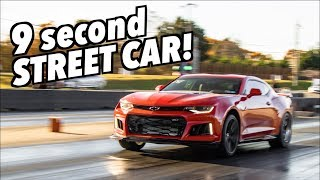TWIN TURBO Camaro ZL1 Goes Deep Into The 9s On PUMP GAS ONLY!!