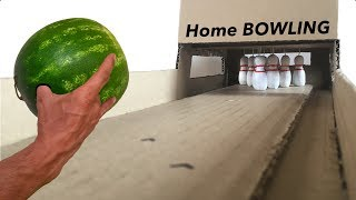 🎳 Best Desk Game Ever. Homemade BOWLING championship. DIY TUTORIAL