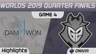DWG vs G2 Highlights Game 4 Worlds 2019 Main Event Quarter Finals Damwon Gaming vs G2 Esports by Oni