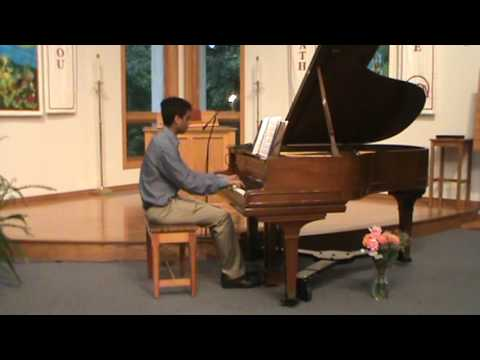 Fantasy Impromptu by Fredrick Chopin.  This student studied with me for 5 years.
