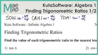 KutaSoftware: Algebra 1- Finding Trigonometric Ratios Part 1