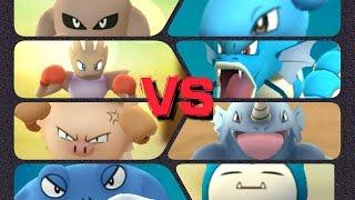 Hitmonlee  - (Pokémon) - Pokémon GO Gym Battles 3 Gym takeovers Hitmonlee Hitmonchan Primeape Poliwrath Lapras Snorlax & more