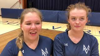 Volleyball Post-Game | Sr. Courtney Walsh & Sr. Anne Reavely | 9-27-18