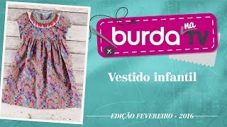 burda na TV 75 – Vestido infantil – fácil!