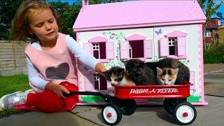 Наши котята Bad baby Little Kittens в Домике для кукол мультики про котят Kid