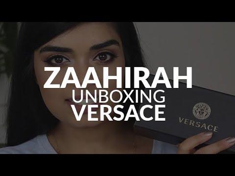 VERSACE sunglasses unboxing by Zaahirah Munif