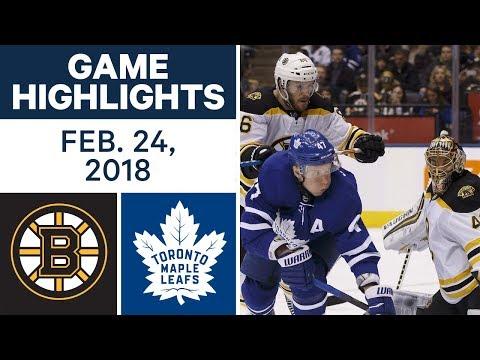 NHL Game Highlights | Bruins vs. Maple Leafs - Feb. 24, 2018