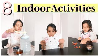 8 - INDOOR Play & Activity Ideas for 2,3,4 & 5 Years Old Kids (almost ZERO COST)