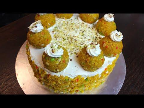 MOTICHOOR LADOO CAKE *COOK WITH FAIZA*