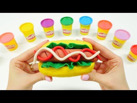 Spielspaß mit PlayDoh - Wir kneten einen Hotdog  - Spielzeugvideo für Kinder