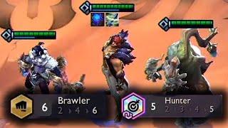 5 HUNTER + 6 BRAWLER | TFT SET 4 Gameplay [Deutsch]